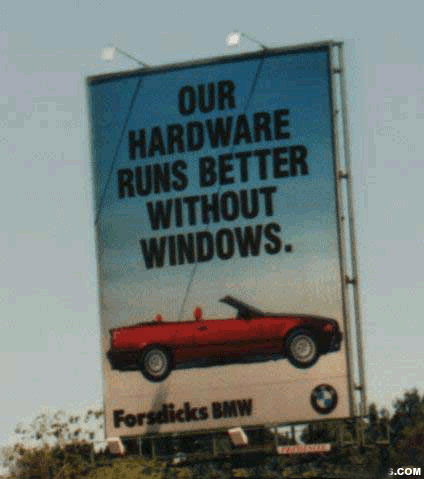 BMW can run without Windows :)
